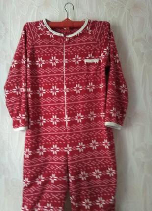Яркий флисовый слип/кигуруми/пижама большого размера.