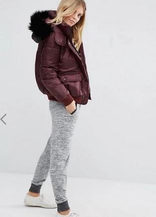 Куртка дутая abercrombie & fitch бордо s