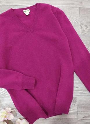 Шерстяная кофта свитер джемпер hessnature цвета фуксии