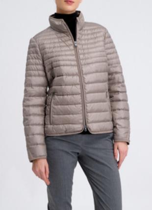 Роскошный фирменный пуховик, куртка тауп 80% перо, ультралегкий fuchs & schmitt