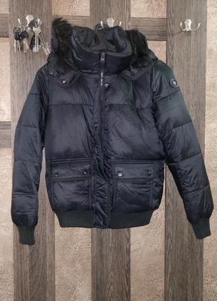 Куртка дутая abercrombie & fitch размер s черный