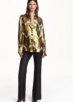 Шелковая блуза h&m studio
