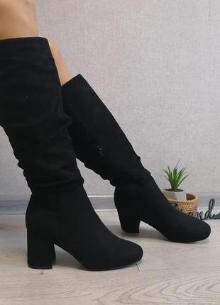 Стильные ботфорды ботинки сапоги