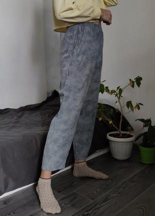 🌻 серые лунные штаны тай-дай