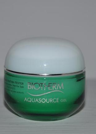 Увлажняющий гель крем для лица  biotherm aquasource gel tester 50ml