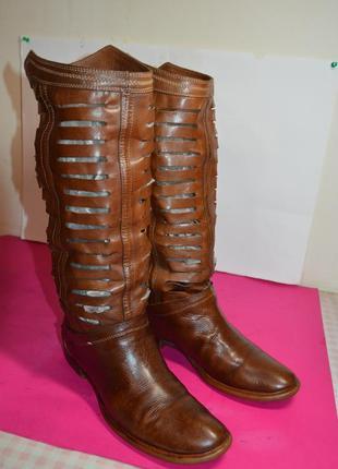Женские  кожаные  сапоги  companys