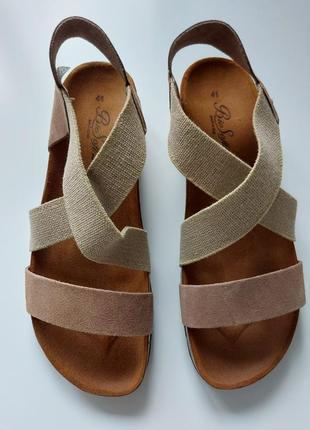 Натуральные сандали, италия