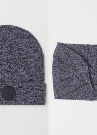 Комплект шапка и снуд от h&m рост 2-4 года на мальчика