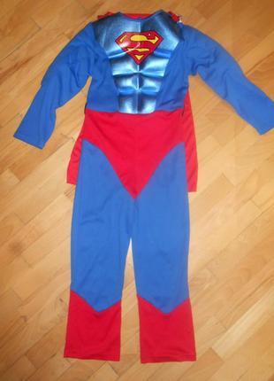 Костюм на мальчика супермен - на 5-6 лет