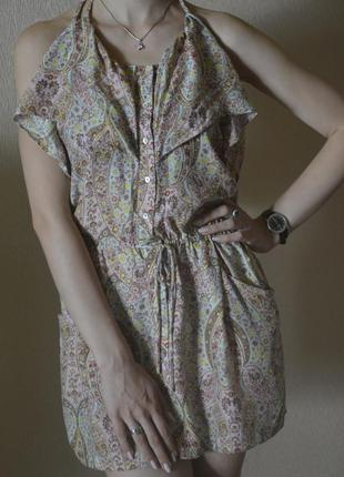 Летний короткий сарафан zara, платье мини, сарафан