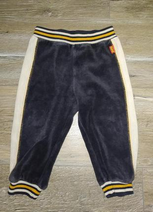 Штанишки штаны велюр для дома на резинке