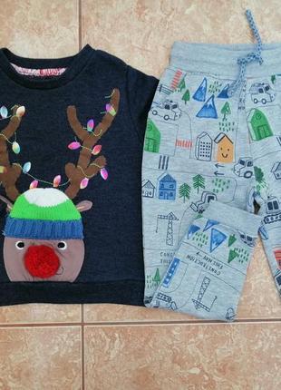 Стильный комплект: теплый свитшот теплая кофта кофточка толстовка и спортивные штаны
