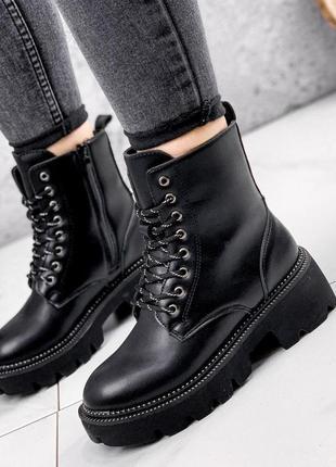 Ботинки женские derek черные зима