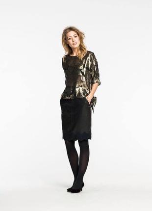 Нова.спідниця шкіра брендова maison scotch j'adore l'hiver leather pencil skirt оригінал