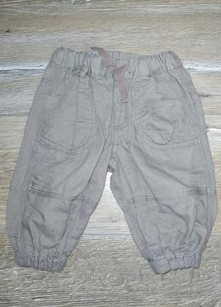 Льняные джоггеры штаны на резинке
