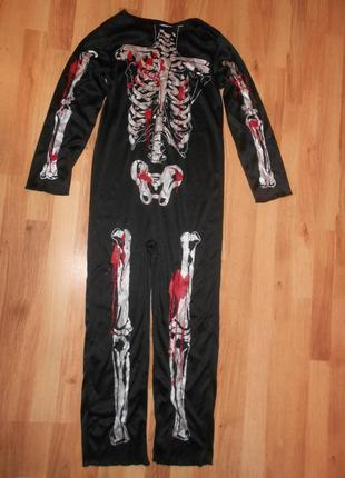 Карнавальный костюм скелет на 11-12 лет tesco