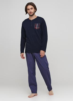 Домашние хлопковые пижамные брюки livergy, м, xl