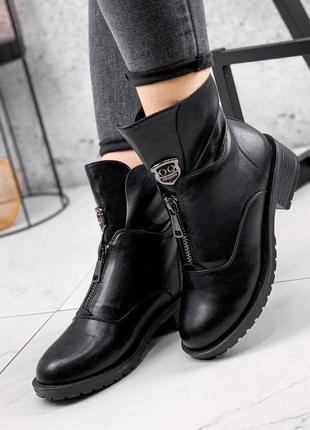 Ботинки женские dina черные зима