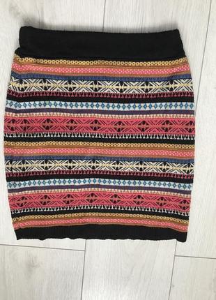 Юбка, вязанная юбка, разноцветная юбка, модная юбка, стильная юбка.