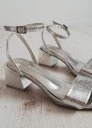 Серебрянные туфли asos