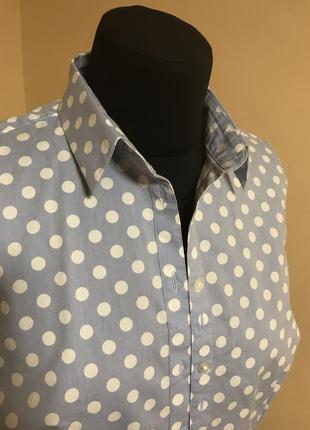 Рубашка без рукавов в горошек m&s