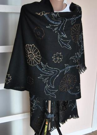 Шерстяной шарф палантин codello /шерстяний палантин
