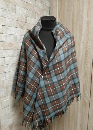 Огромный платок шаль  шотландка
