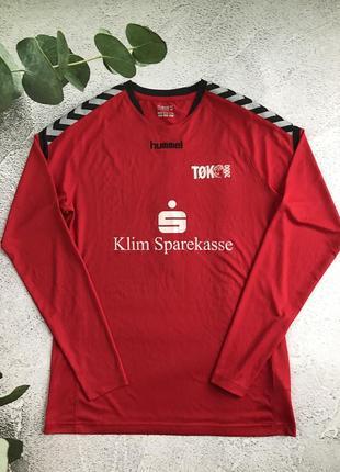 Cпортивный реглан лонгслив датского бренда hummel authentic. l