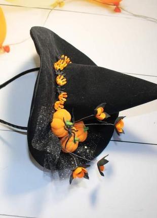 Ободок обруч шляпка шляпа ведьми ведьмочки на хэллоуин, хеллоуин