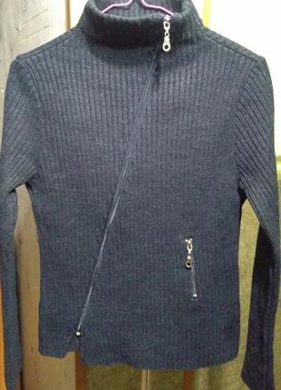 Теплая кофта свитер на замке zazies