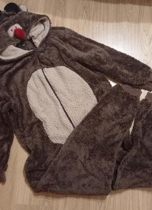 Мужской кигуруми l/xl размер. пижама. костюм оленя