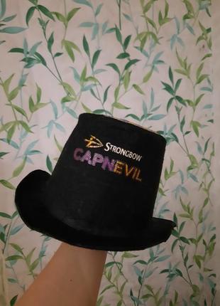 Шляпа чёрная цилиндр