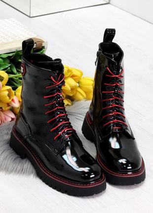 Ботинки зима женские domino, экокожа масло