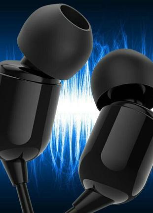 Наушники-вкладыши hifi стерео с микрофоном черные