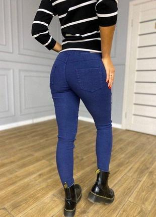 Повседневные джинсы джеггинсы леггинсы скинни джеггинсы на флисе - размеры, 2 цвета