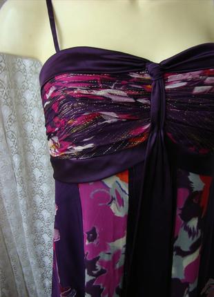 Платье женское легкое летнее сарафан вискоза шелк бренд monsoon р.42-44 2742