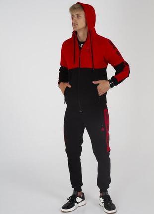 Спортивный тёплый костюм на флисе