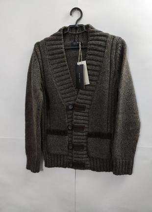 Шерстяной свитер кардиган zara man