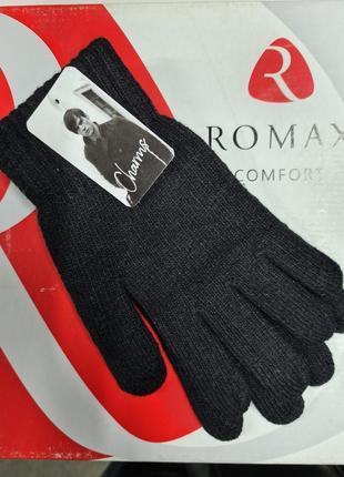 Перчатки чёрные полу шерсть sharms , мужские перчатки,  чёрные перчатки