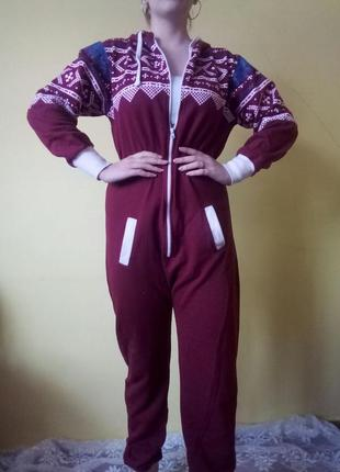 Кігурумі суцільна піжама тепла кигуруми комбінезон