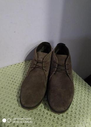 Замшевые туфли ботинки am shoe company