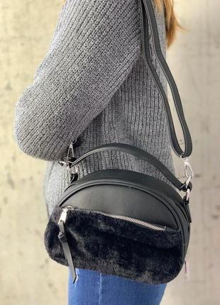 Крутые сумочки с меховыми вставками