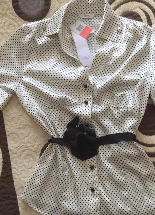 Блуза новая шелковистая, стрейч