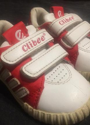 Clibee кроссовки на липучках 13,5