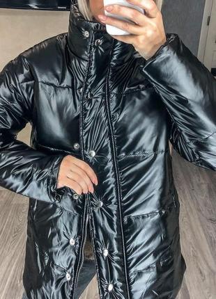 Женская куртка под кожу