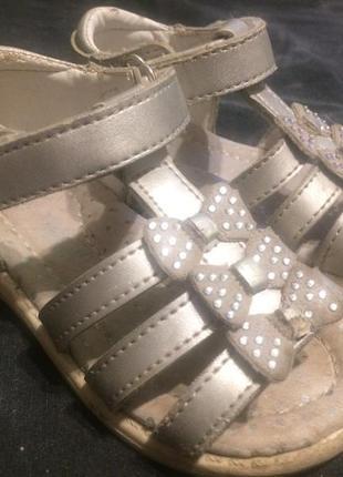 Tom.m сандали босоножки серебристые 13.5