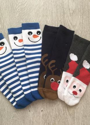 Шикарные новогодние носочки махровые c&a германия.