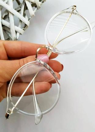 Компьютерные очки, прозрачная оправа
