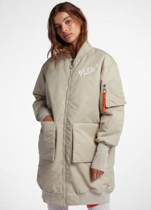 Плащ куртка удлиненный бомпер nike