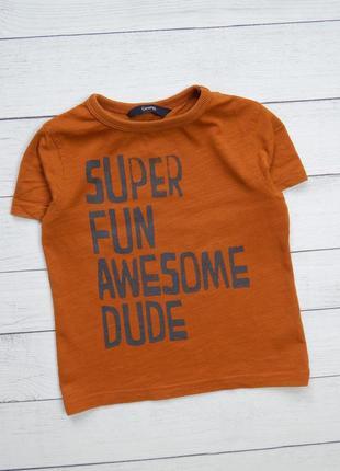 Стильная хлопковая футболка от george, для мальчика 1,5-2 года. 86-92 рост.